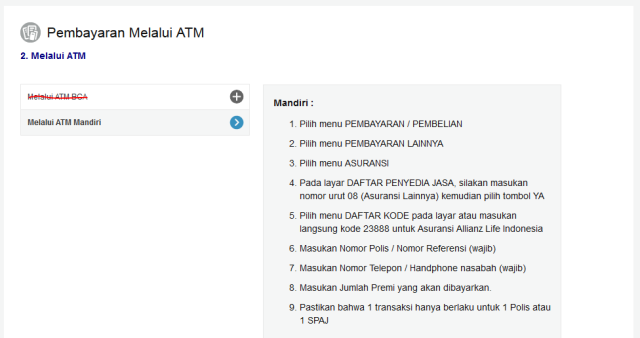 Setor ATM Mandiri